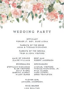 Fan Wedding Programs | Zazzle