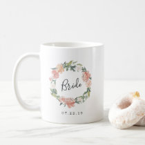 Midsummer Floral Wreath Bride Coffee Mug