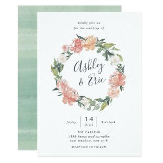 Midsummer | Floral Wreath Wedding Invitation