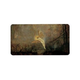 Midsummer Night by Grimshaw, Vintage Victorian Art Label