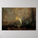 Midsummer Night, Grimshaw, Vintage Victorian Fairy Poster