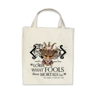 Midsummer Night s Dream Quote Canvas Bag