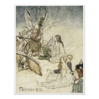 """Midsummer Night's Dream, """"And a fairy Song, """",1908 Poster"""