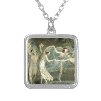 Midsummer Night's Dream by William Blake Square Pendant Necklace