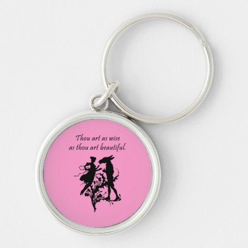 Midsummer Night's Dream Silver-Colored Round Keychain