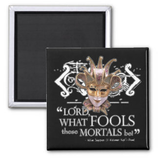 Midsummer Night's Dream Quote 2 Inch Square Magnet