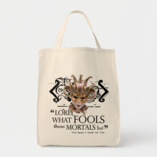 Midsummer Night's Dream Quote Grocery Tote Bag