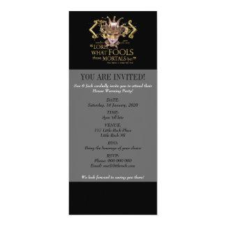 Midsummer Night's Dream Quote (Gold Version) 4x9.25 Paper Invitation Card