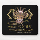 Midsummer Night's Dream Quote (Gold Version) Mouse Pad