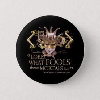 Midsummer Night's Dream Quote (Gold Version) Pinback Button