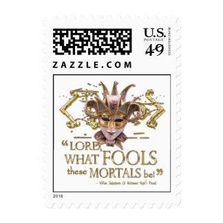 Midsummer Night's Dream Quote (Gold Version) Stamps