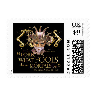 Midsummer Night's Dream Quote (Gold Version) Postage