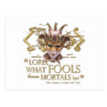 Midsummer Night's Dream Quote (Gold Version) Postcard