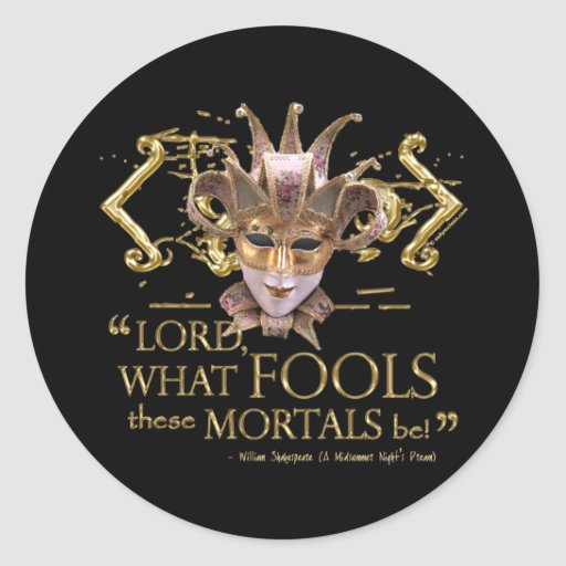 Midsummer Night's Dream Quote (Gold Version) Sticker