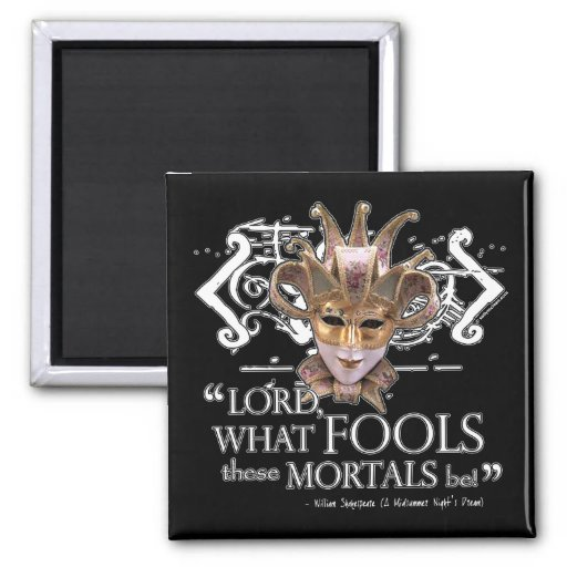 Midsummer Night's Dream Quote Fridge Magnet