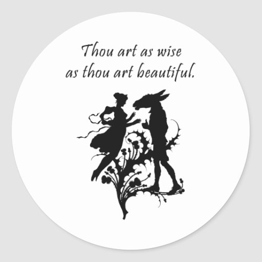 Midsummer Night's Dream Round Sticker