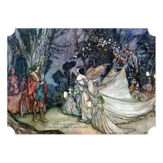 Midsummer Night's Dream Vintage Wedding Invitation