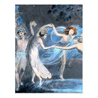 Midsummer Night's Dream, William Blake Fine Postcard