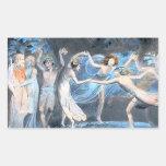 Midsummer Night's Dream, William Blake Rectangle Sticker