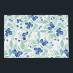 """Midsummer Rustic Blueberry Berry Summer  Pattern Placemat<br><div class=""""desc"""">Beautiful pattern with wonderful blueberries for your summer  by UtART. Suitable to all Blueberry Midsummer Rustic Wedding  Invitations.</div>"""