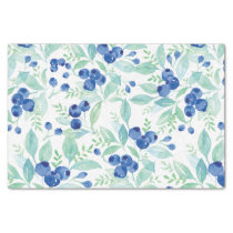 Midsummer Rustic Blueberry Berry Summer  Pattern Tissue Paper