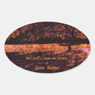 Midsummer tree library sticker plate