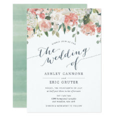 Midsummer | Watercolor Floral Wedding Invitation at Zazzle