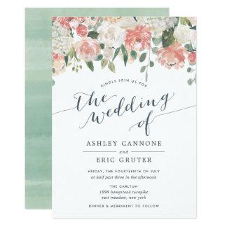 Midsummer | Watercolor Floral Wedding Invitation