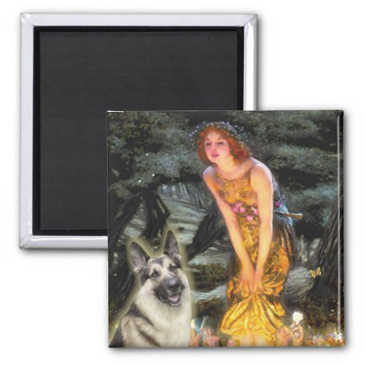Midsummers Eve - German Shepherd 9 Fridge Magnets