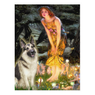Midsummers Eve - German Shepherd 9 Postcard