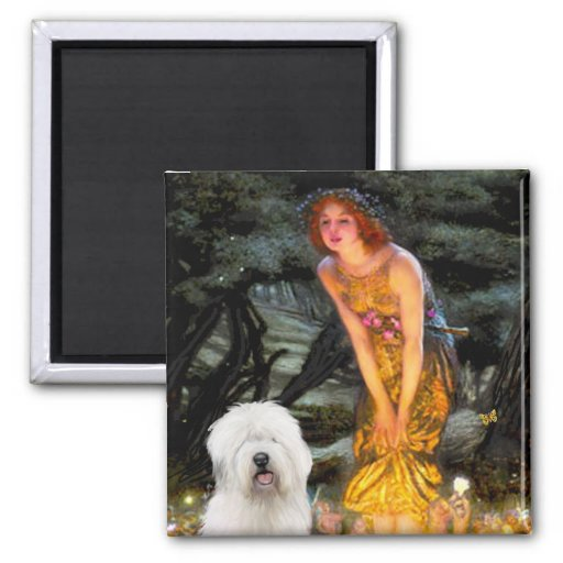 Midsummers Eve - Old English 3 2 Inch Square Magnet