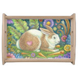 MIDSUMMER'S HARE Rabbit SM SERVING TRAY Wood