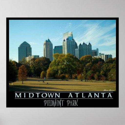Midtown Atlanta - Piedmont Park Print
