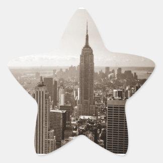 Midtown de New York City Calcomanías Forma De Estrellaes Personalizadas