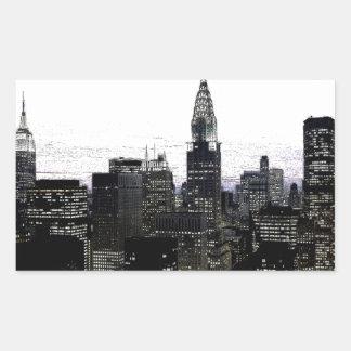 Midtown de New York City Pegatina Rectangular