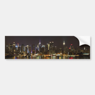 Midtown Manhattan as seen from Weehawken NJ Bumper Sticker