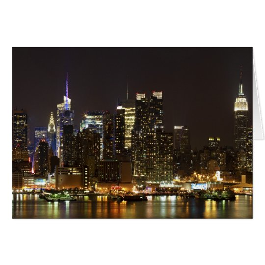 Midtown Manhattan as seen from Weehawken NJ Card