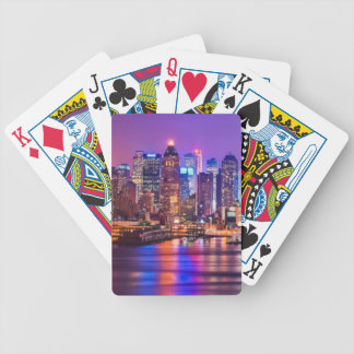 Midtown Manhattan at night with Empire Stae Bicycle Playing Cards