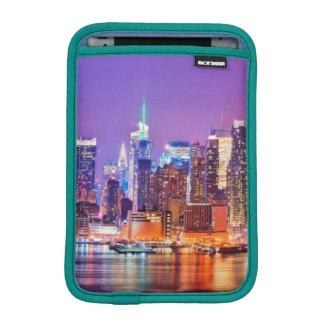 Midtown Manhattan at night with Empire Stae iPad Mini Sleeve