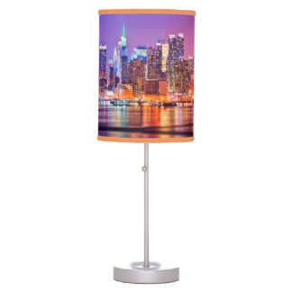 Midtown Manhattan at night with Empire Stae Desk Lamps