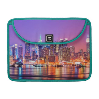 Midtown Manhattan at night with Empire Stae MacBook Pro Sleeve