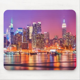 Midtown Manhattan at night with Empire Stae Mouse Pad