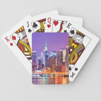 Midtown Manhattan at night with Empire Stae Playing Cards