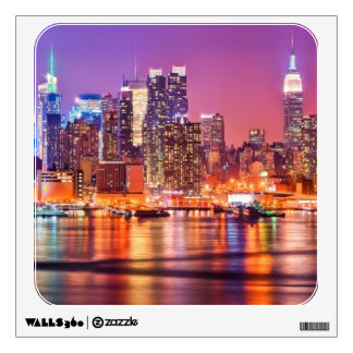 Midtown Manhattan at night with Empire Stae Wall Sticker