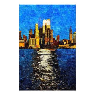 Midtown Manhattan en el ocaso Impresion Fotografica