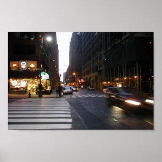 Midtown Manhattan en un verano caliente y pegajoso Impresiones