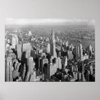 Midtown Manhattan New York City NY 1932 Poster