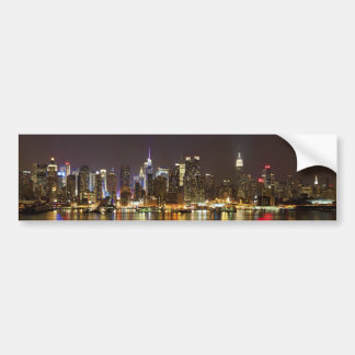 Midtown Manhattan seen from Weehawken New Jersey Car Bumper Sticker