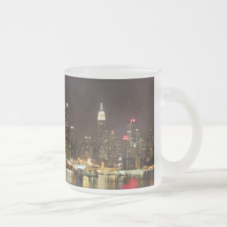 Midtown Manhattan seen from Weehawken New Jersey Frosted Glass Coffee Mug
