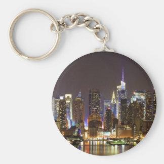 Midtown Manhattan seen from Weehawken New Jersey Key Chain